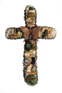 "19"" Stone Cross"