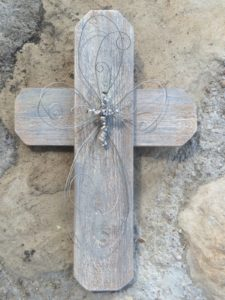 Grey Tone Wood Cross